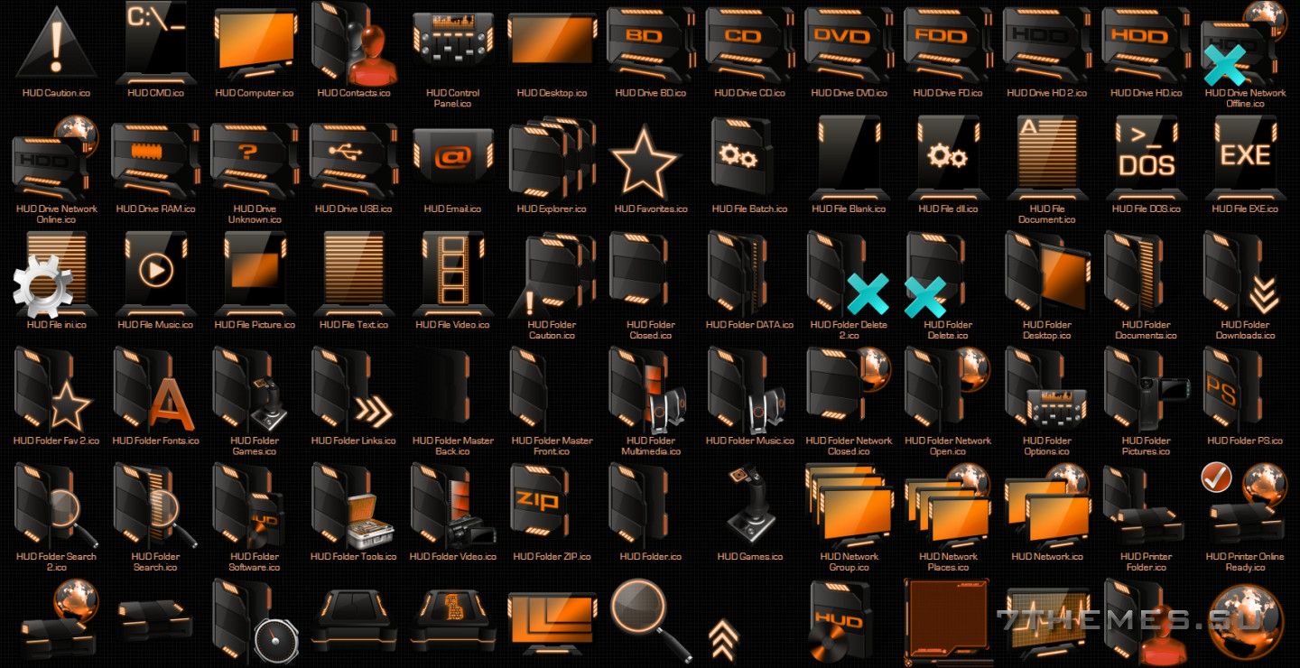 HUD Windows Icon Packs