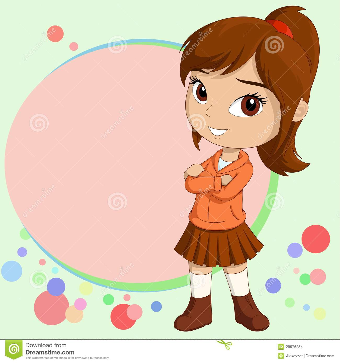 7 Cute Little Girl Vector Images