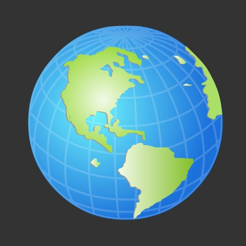 Internet Globe Icon Vector
