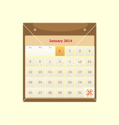 January 2014 Monthly Calendar