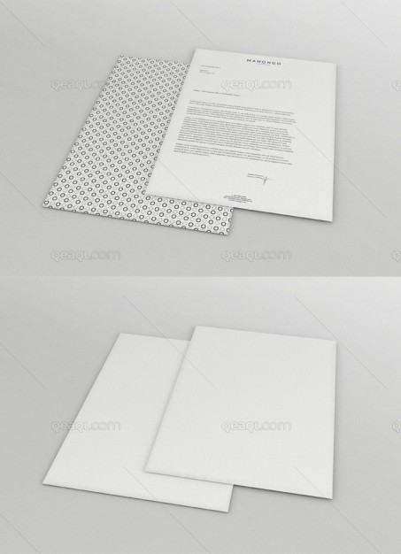 Letter Head Mockup PSD