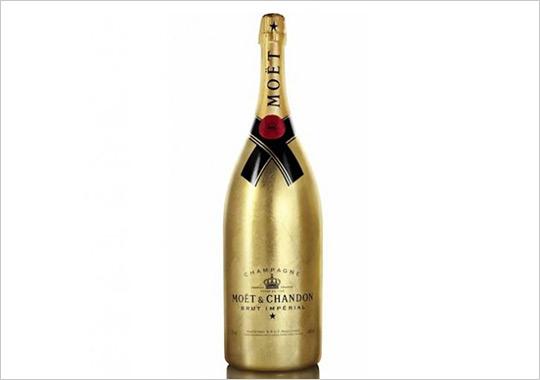 8 Gold Champagne Bottle PSD Images