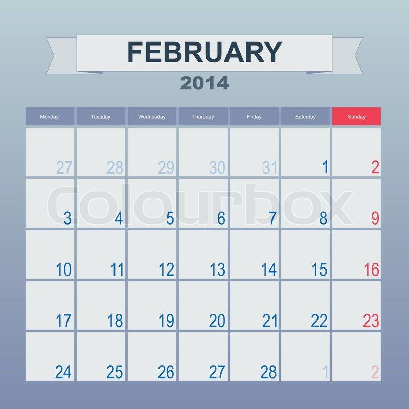 Monthly Schedule Calendar