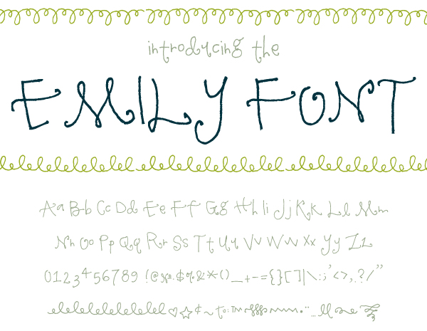 My Handwriting Font