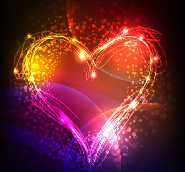 Neon Valentine's Day Background