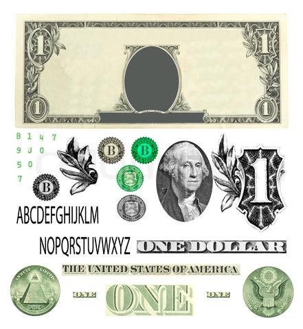 One Dollar Bill Vector