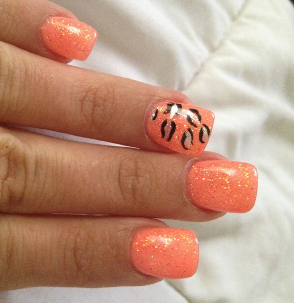 Orange Gel Nail Designs