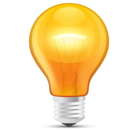 12 Light Bulb PSD Images