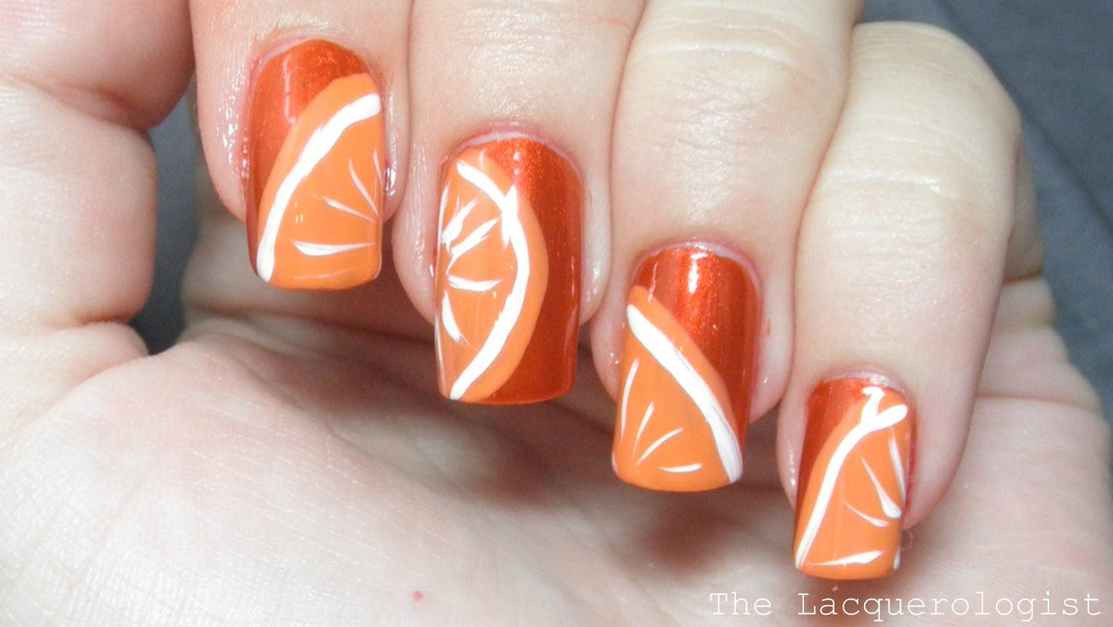 Orange Nail Art Designs