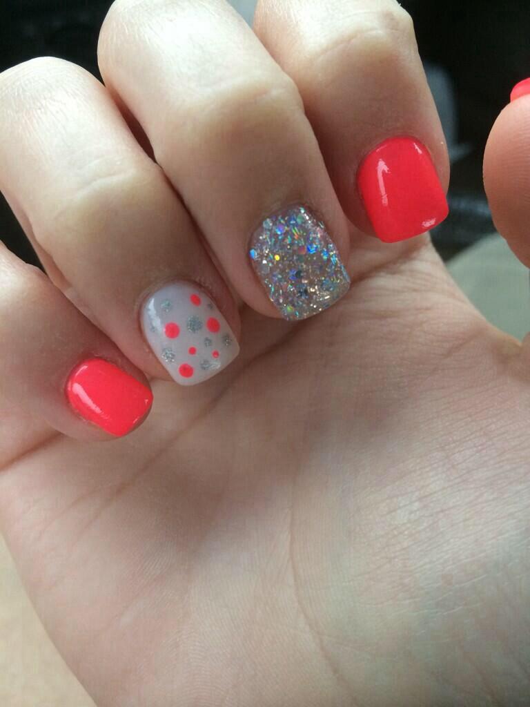 Orange Neon Summer Nails
