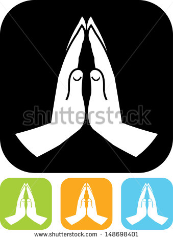 Praying Hands Vector Icons