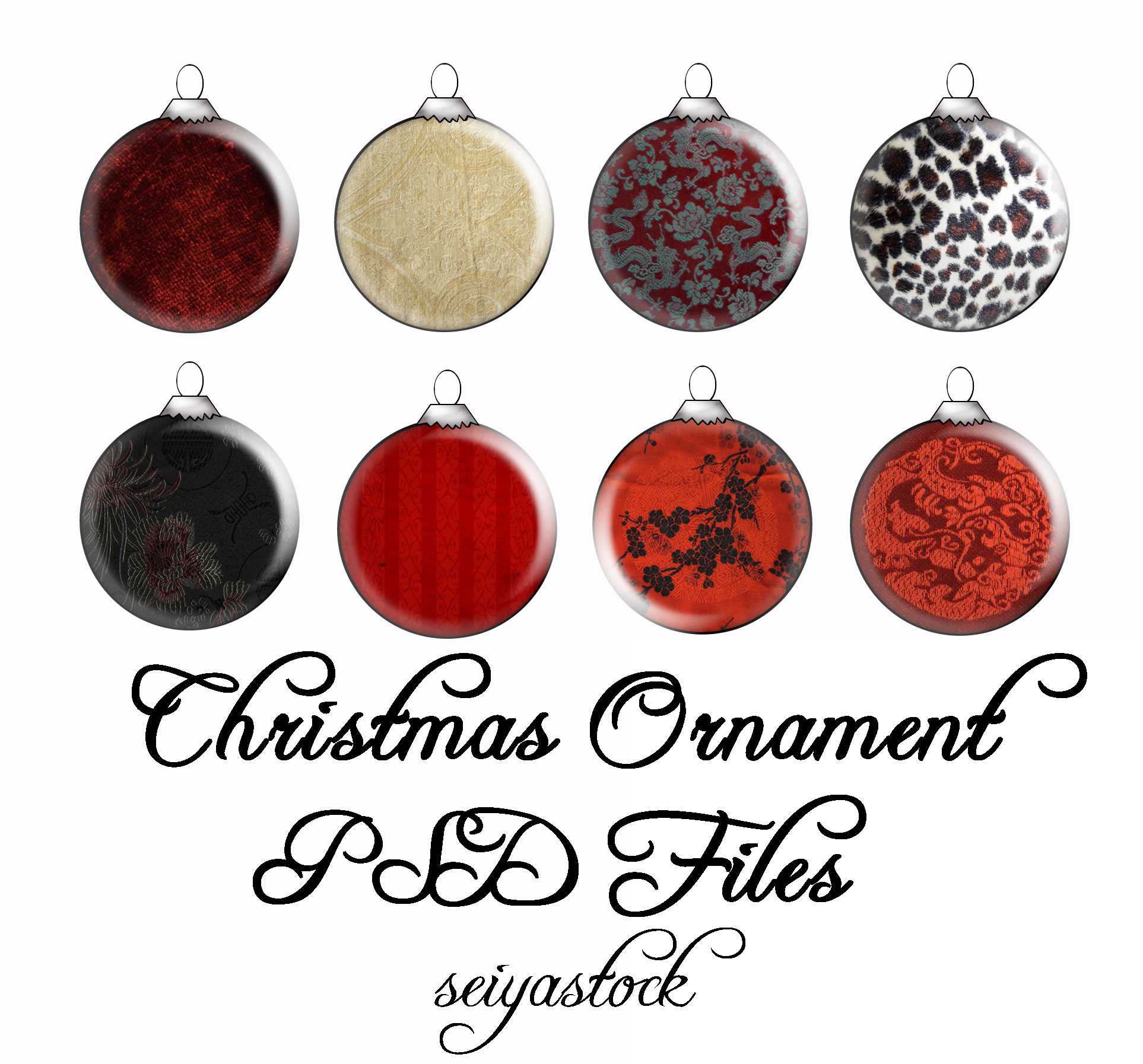 13 Christmas Ornament PSD Images