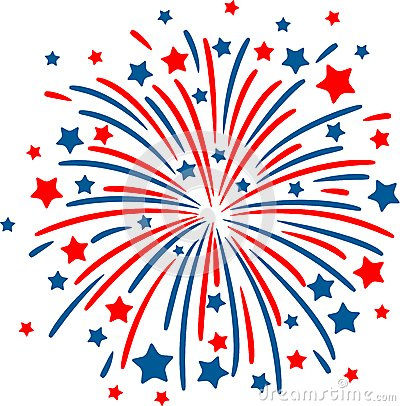14 Red White And Blue Vector Fireworks Images