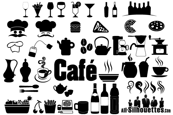 8 Restaurant Icon Vector Images