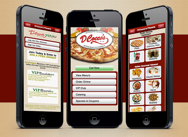 Restaurants Mobiles Sites