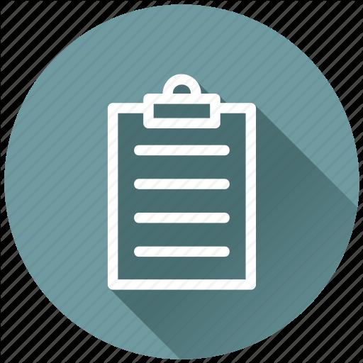 Round Flat Icon Checklist