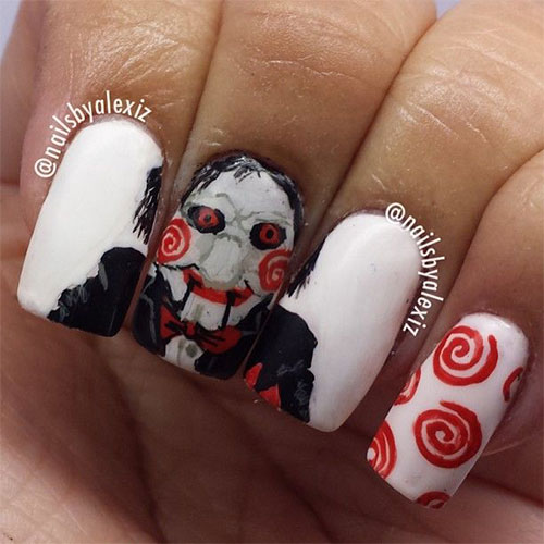 Scary Halloween Nail Art Designs