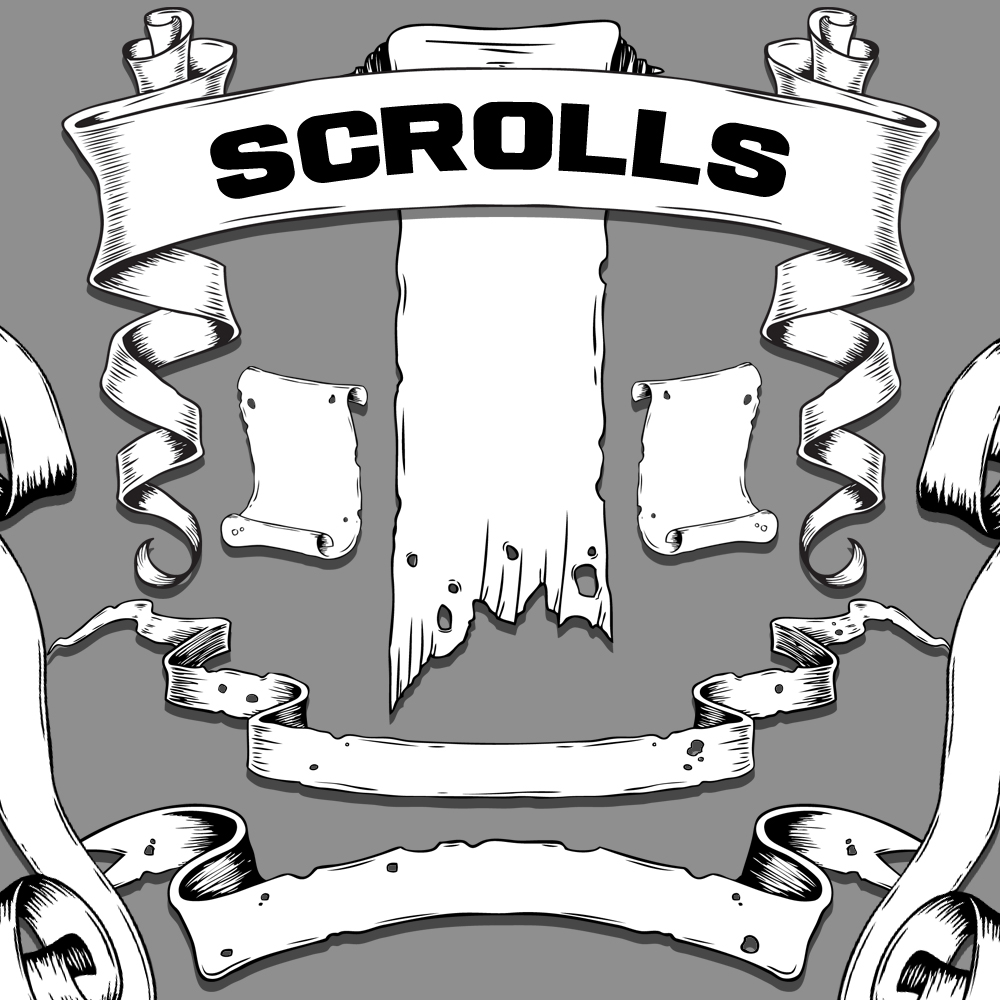 14 Simple Scroll Vector Images