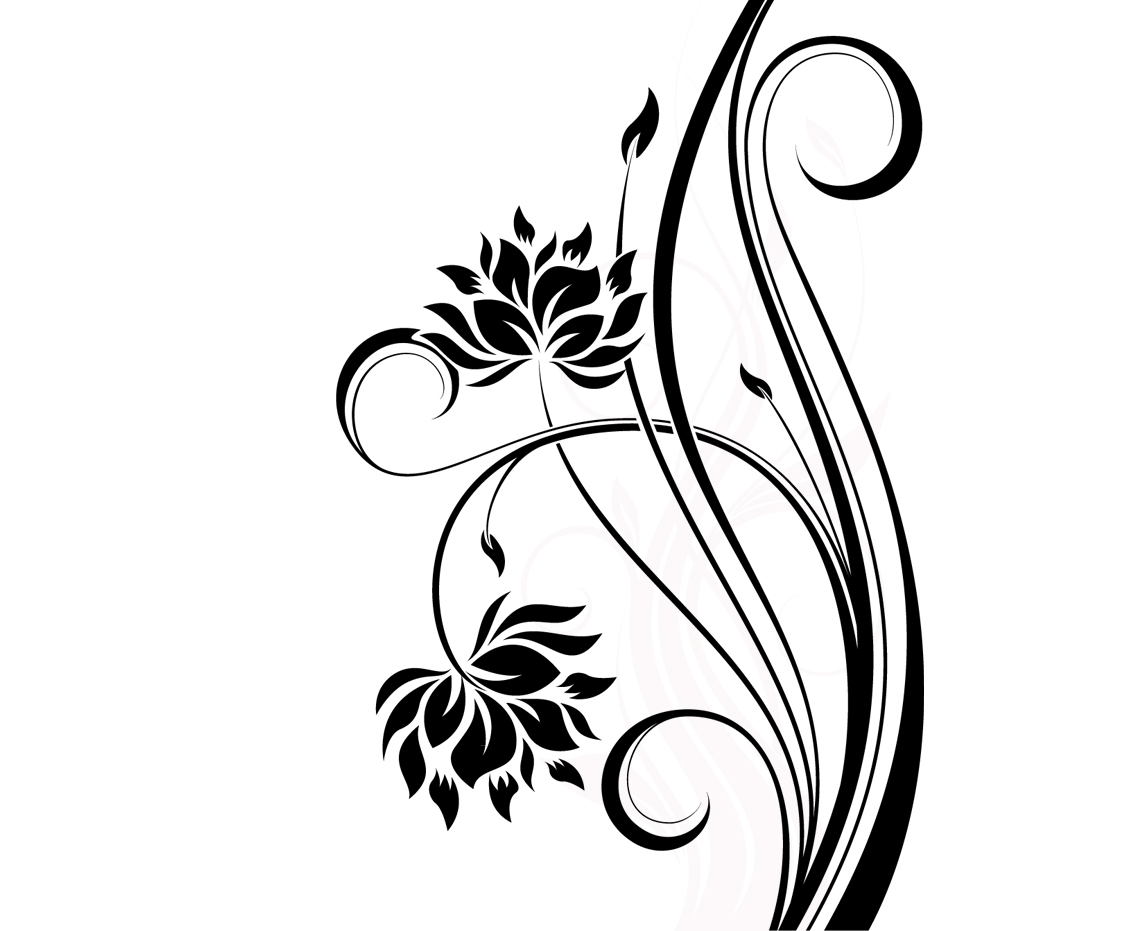 Line Art Aplic Flower Design : Floral line design images tattoo designs