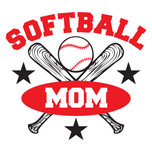 Softball Mom Clip Art Vector