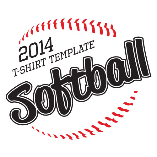 Softball Vector Art