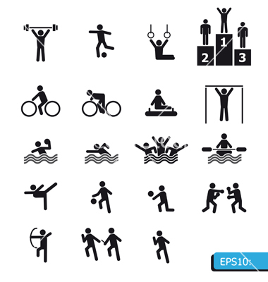11 Sports Vector Icon Images