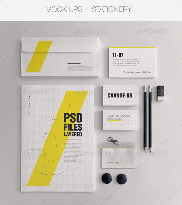 9 Lightning PSD Letterhead Templates Images