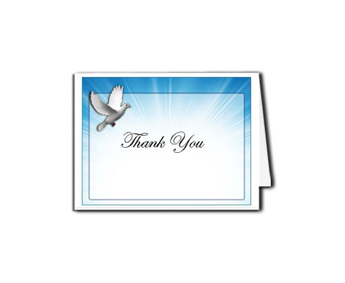 Thank You Funeral Cards Templates