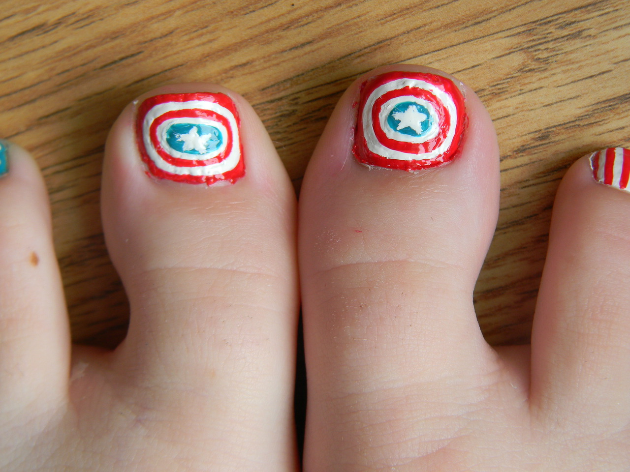Toe Nail Art Designs with Rhinestones