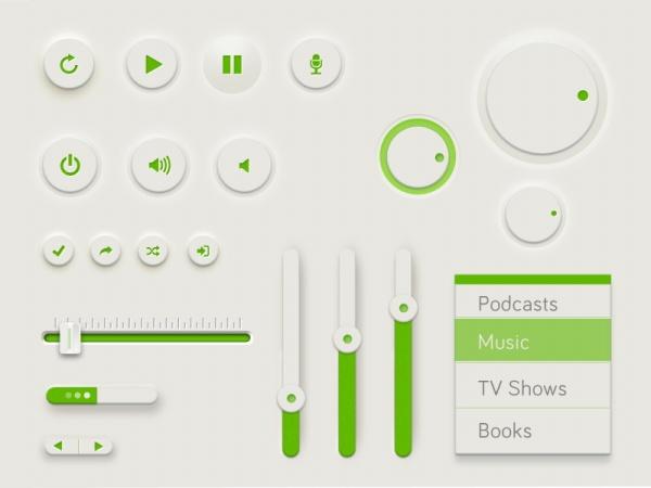 UI Design Template PSD