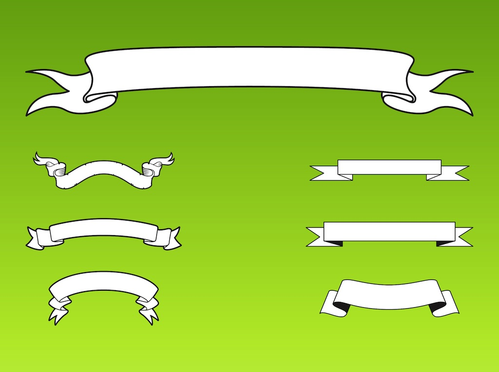 Vector Ribbon Banner Clip Art