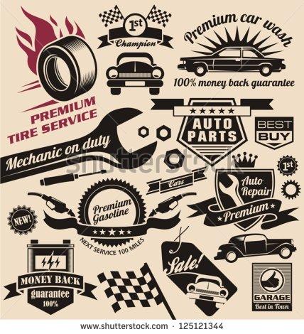 Vintage Car Symbols