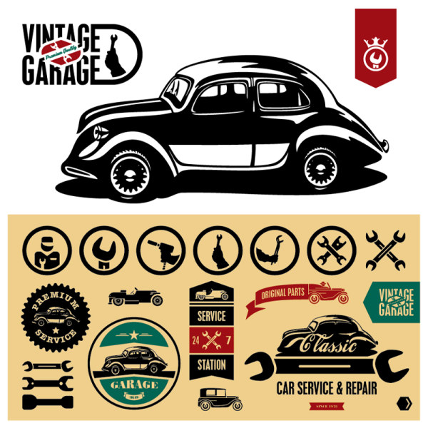 Vintage Garage Vector