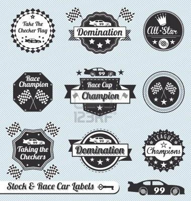Vintage Race Car Vector