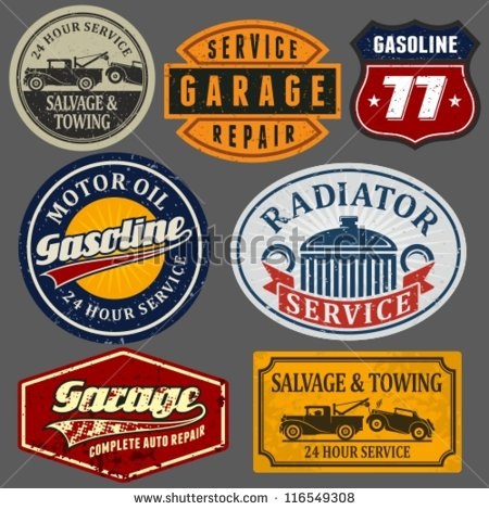 Vintage Repair Shop Sign