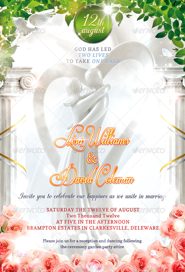 Psd Wedding Invitation Card - Unique Wedding Invitations