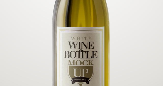 White Wine Bottle Mock Up