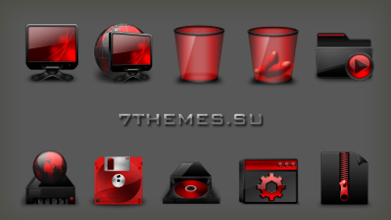 Windows Icons Red