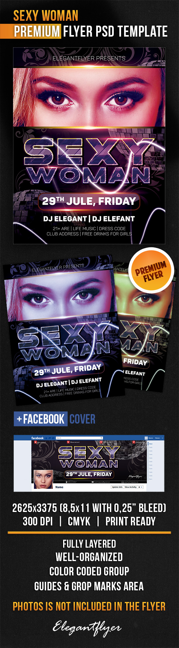 20 Free PSD Flyer Templates Women Images