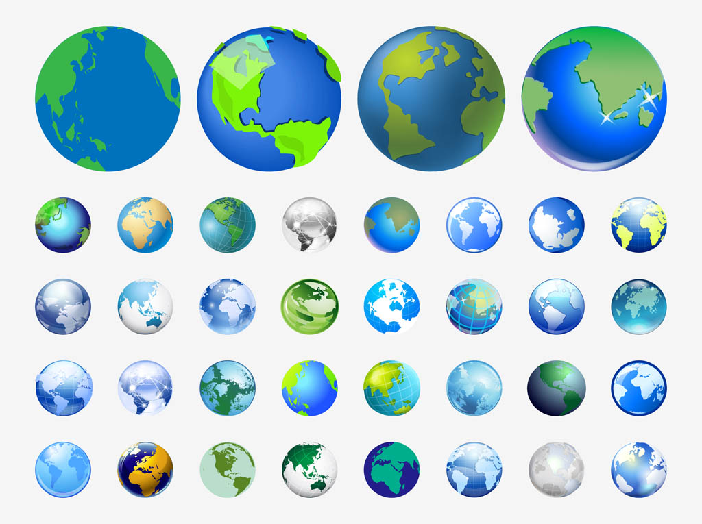 World Icon Vector Free