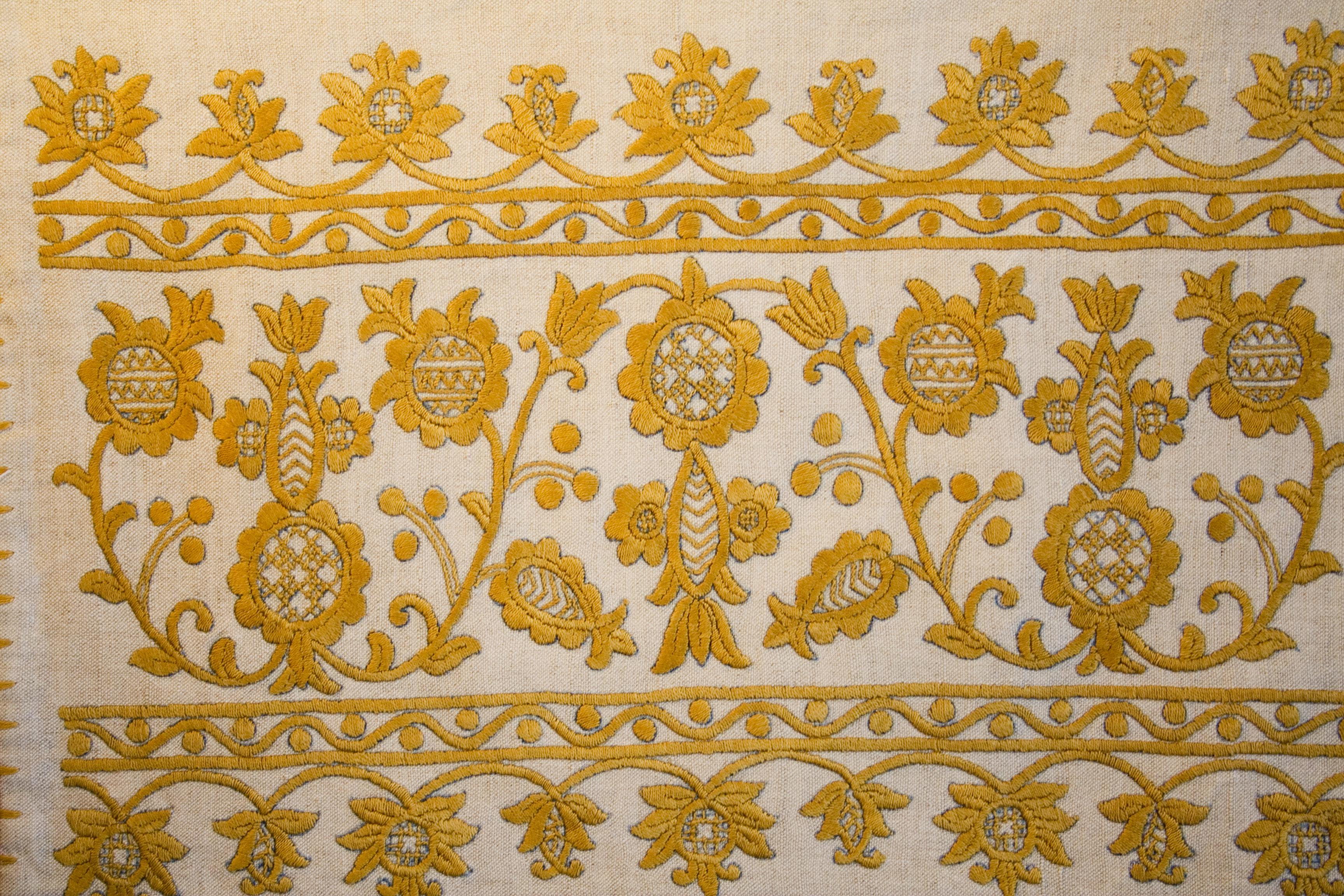 Yellow Textile Pattern
