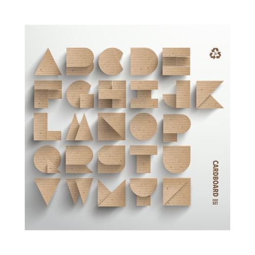 3D Cardboard Letters Design