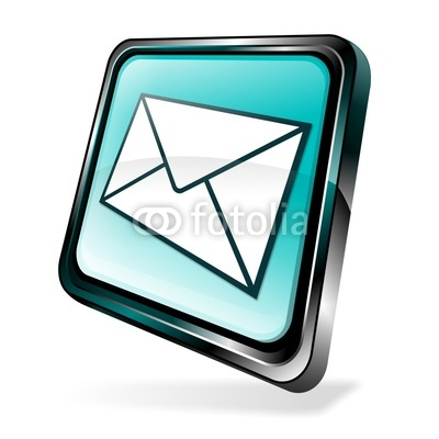 3D Email Icon Blue