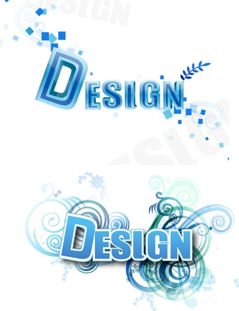 16 Vector PSD 3D Letter Style Images