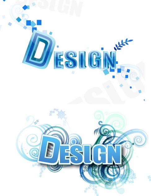 3D Letter Designs