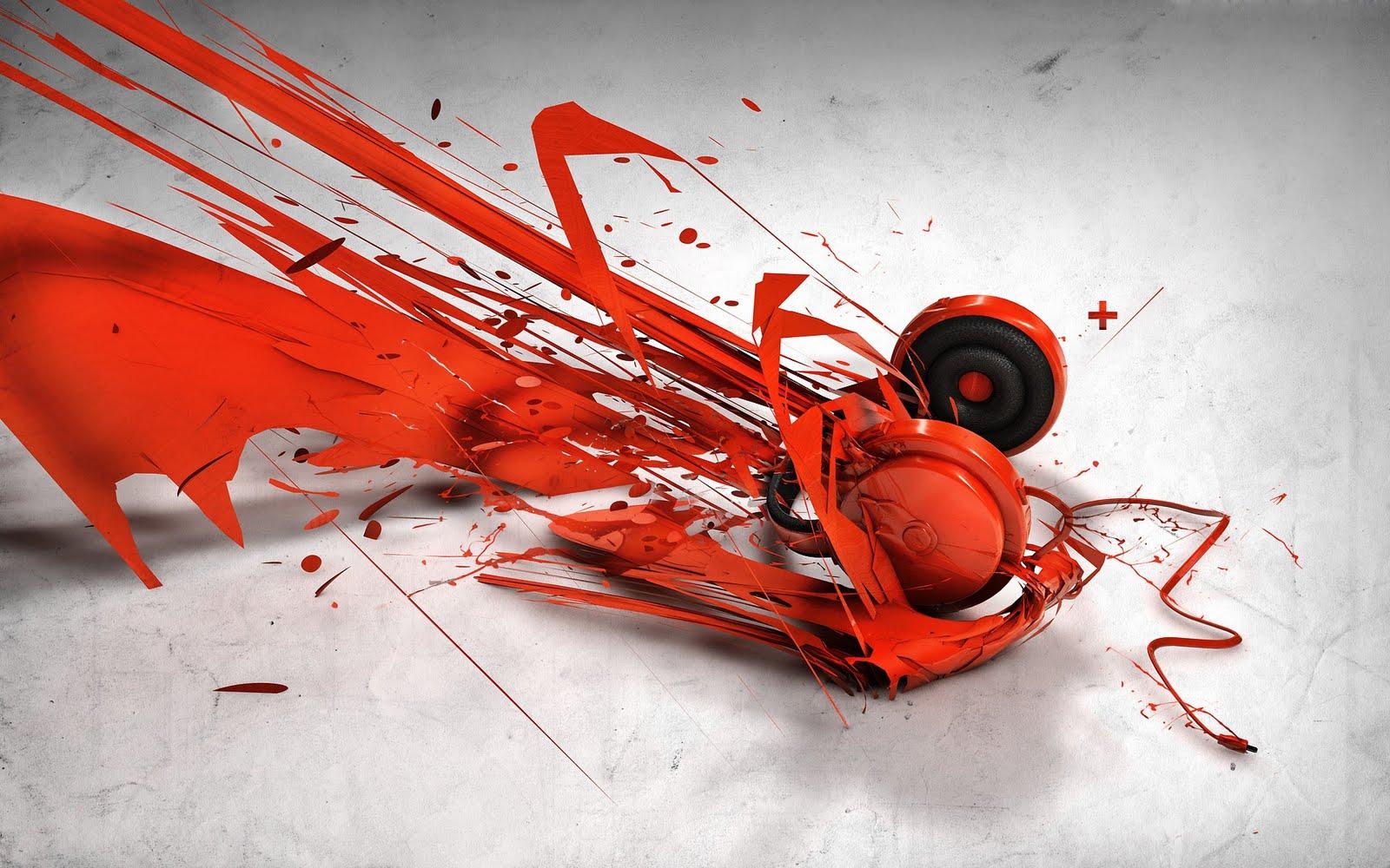 Abstract Headphones