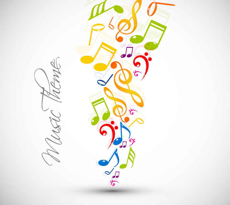 Abstract Music Note Design