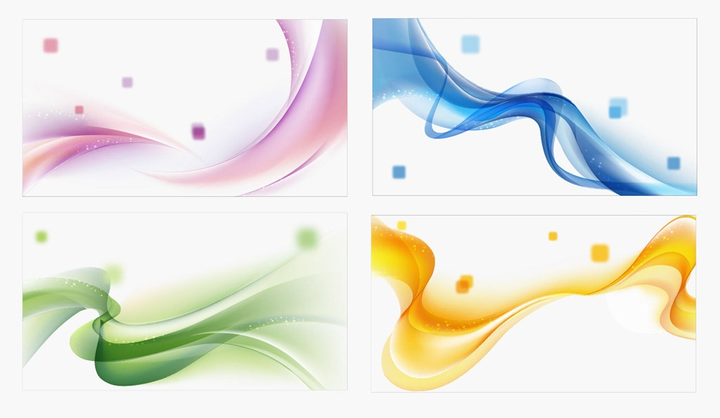 13 Colored Wave Vector Images