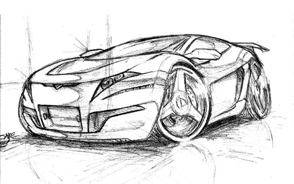 Amazing Car Drawings