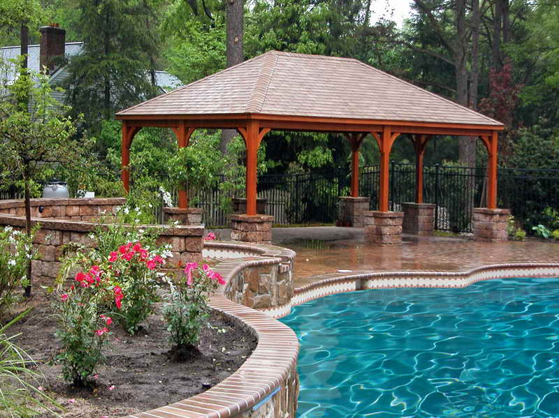 13 Pool Pavilion Designs Images - Backyard Pool Pavilion ...